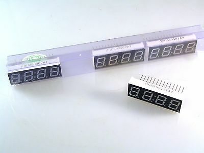 "LED Display JGD390407AY 7 Segment .56"" 4 Digit Common Anode OM229 4 Pieces"