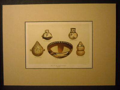 Zuni Pottery Color Litho 1881