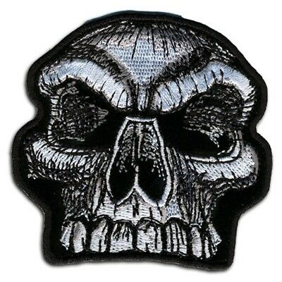 SKULL FACE Embroidered Motorcycle MC Club NEW Biker Vest BACK PATCH LRG-0057