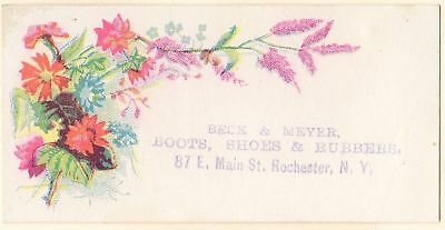 Victorian Trade Card: Beck & Meyer Shoes - Rochester NY