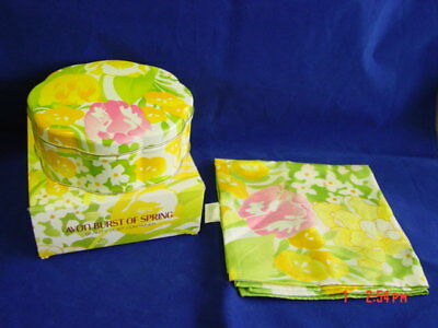 Vintage Avon Burst of Spring Beauty Dust Powd Tin Scarf