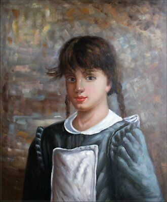 Quality Hand Painted Oil Painting Portrait of a Young Lady 20x24in
