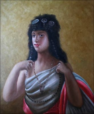 Quality Hand Painted Oil Painting Portrait of an Arabian Young Lady 20x24in