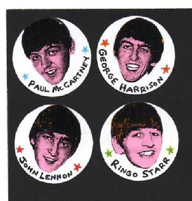 4 Beatles  Badges.