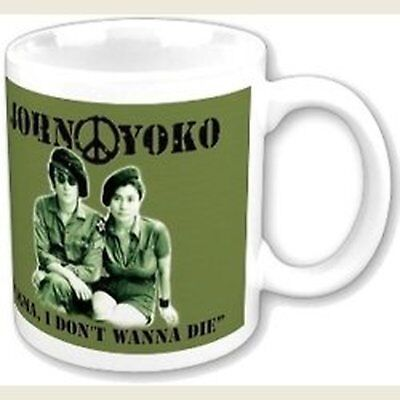 John Lennon I Don't Wanna Be A Soldier White Coffee Mug Boxed Official Fan Gift