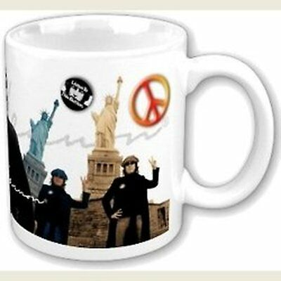 John Lennon Yoko Peace And Liberty White Coffee Mug Cup Boxed Official Fan Gift