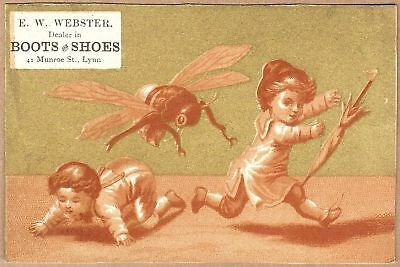 Victorian Trade Card: E W Webster Shoes - Lynn, MA