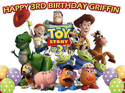 TOY STORY 3 Edible CAKE Image Icing Topper FREE SHIP