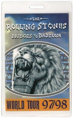 Rolling Stones Backstage Pass All Access Laminate 1997