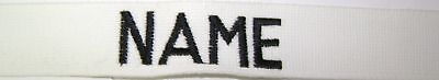 """MILITARY NAME TAPE WHITE with HOOK FASTENER up to 6"""""""