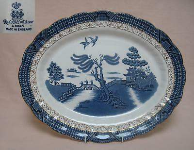 "Booths ""Real Old Willow"" (A8025) 12.25"" SERVING PLATE"