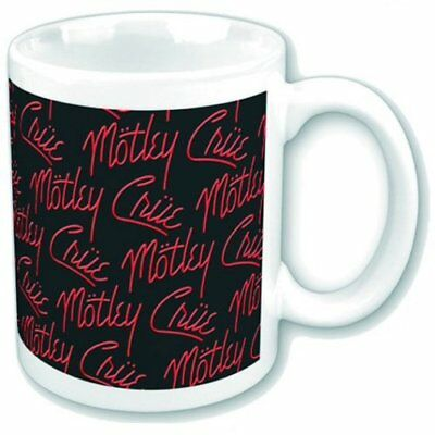 Motley Crue Motleygram Tile Design Black White Coffee Mug Boxed Official Gift