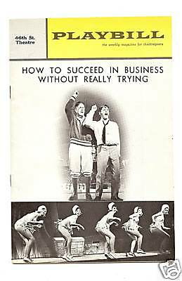 "Playbill""how To Succeed Business Without Trying""r.morse"