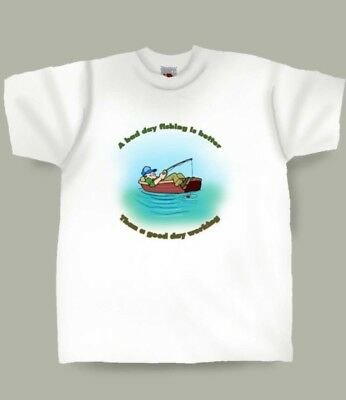 Cartoon Fishing  Boat  funny T-Shirt in all sizes