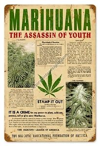 """marijuana assassin of youth Meet the man responsible for marijuana prohibition  article co-authored by anslinger entitled """"marijuana—assassin of youth"""" which described a young florida ."""