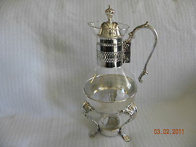 Silverplate and Glass Coffee Warmer