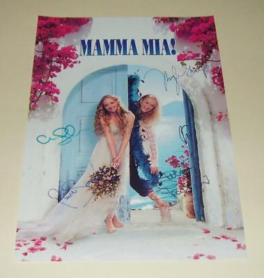 """Mamma Mia Cast X 5 Pp Signed Poster 12""""x8"""" Seyfried"""