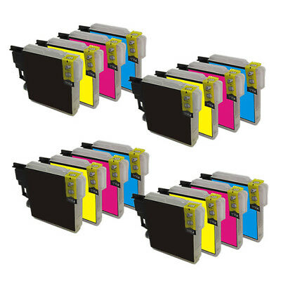 16 x compatibles Brother LC985BK LC985C LC985M LC985Y LC 985 MFC-J220 MFC-J265