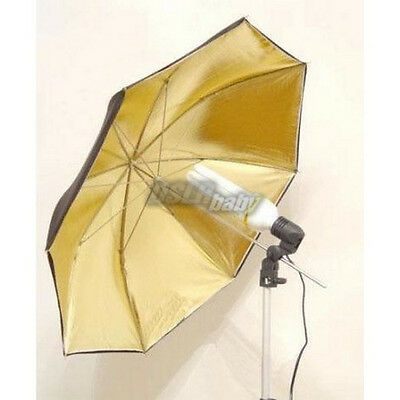 33'' 83cm Studio Flash Reflective Umbrella Gold Black