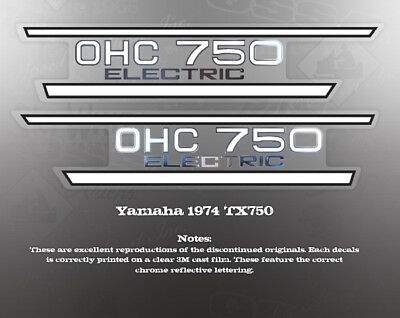 YAMAHA TX650 TX750 SIDE COVER DECALS GRAPHICS LIKE NOS