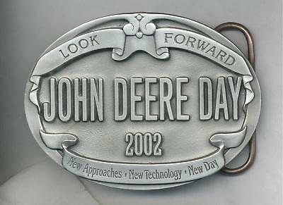 2002 John Deere Day Pewter Belt Buckle NEW