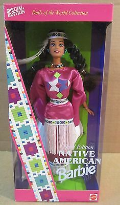 Native American Barbie–Special 2nd Edition-Dolls of The World Collection NEW