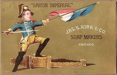 Victorian Trade Card: James S Kirk Soap Co - Chicago IL