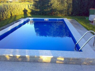 Pool Set 3,5x7x1,50 / 0,6 mm Folie Rechteck Becken Systemsteine P40 Swimmingpool