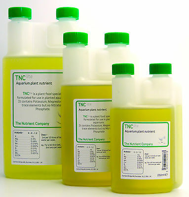 Aquarium Fertilizer Liquid Plant Food from The Nutrient Company - TNC Lite