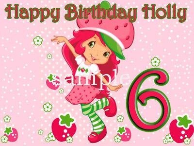 STRAWBERRY SHORTCAKE Edible CAKE Image Icing Topper
