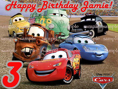 CARS 2 Custom Edible CAKE Image Icing Topper FREE SHIP