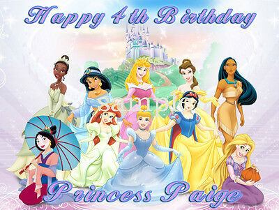 PRINCESS Custom Edible CAKE Image Icing Topper Disney