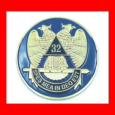 Freemasons'scottish Rite Auto Car Badge Emblem:32°Consistory,masonic Free Masons