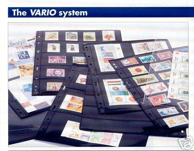 200 NEW Lighthouse VARIO 2S stock pages (black sheets)