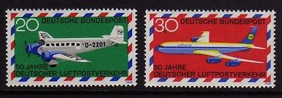 W Germany 1969 Airmail Service SG 1482 - 1483 MNH