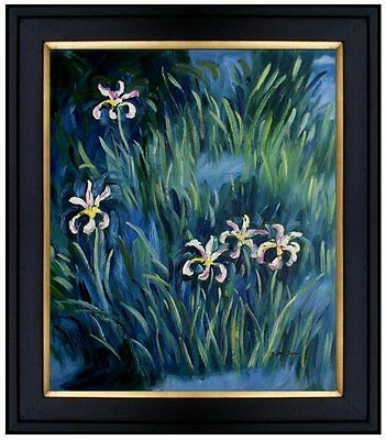 Framed Hand Painted Oil Painting Repro Claude Monet Irises 20x24in