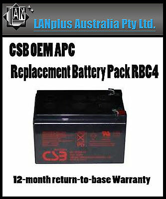CSB OEM APC Replacement Battery Pack RBC4 4 UPS 620 650 750 SC620 BE750BB BK650