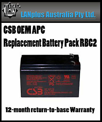 CSB OEM Replacement Battery Pack RBC2 for APC UPS 280 300 350 400 420 500 Tower