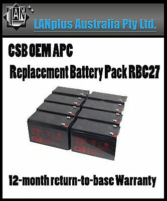 CSB OEM APC Replacement Battery Pack RBC27 UPS 3000 SU2200RMXL3U SU3000RMXLI3U