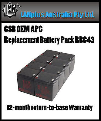 CSB OEM APC Replacement Battery Pack RBC43 Smart UPS 2200 3000 2U 1 Year Waranty
