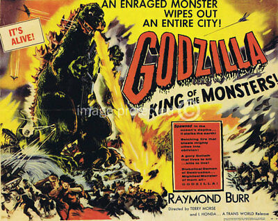 Godzilla King of the Monsters Movie Poster CANVAS PRINT