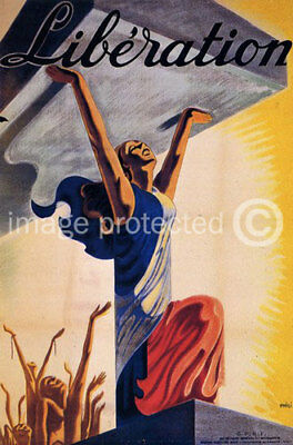 French WW2 V-Day Military CANVAS PRINT Liberation