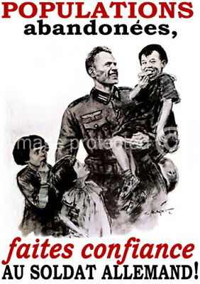 French WW2 Military CANVAS PRINT Populations Abandonees