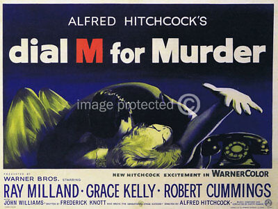 Dial M for Murder Vintage Movie Poster CANVAS PRINT