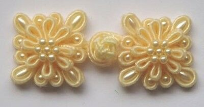 6 pairs yellow square Chinese Frogs Closure buttons
