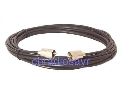 RG58 Coaxial Cable SWR Meter Patch Lead for CB Radios - 60cm / 2ft in Length