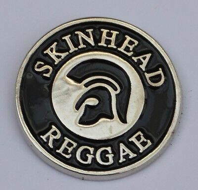 Black Skinhead Reggae Trojan Quality Enamel  Pin Badge