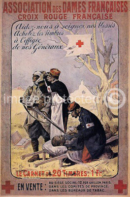 French Military CANVAS PRINT Croix Rouge The Red Cross