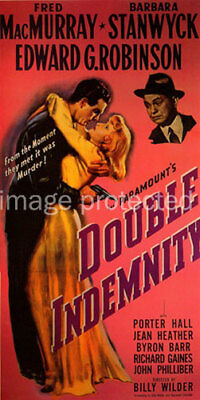 Double Indemnity Vintage Movie Poster CANVAS PRINT