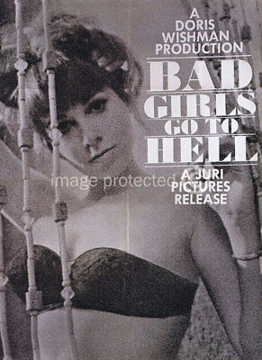 Bad Girls Go To Hell Vintage Movie Poster CANVAS PRINT